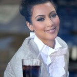 Kim Kardashian in Breadbar restaurant