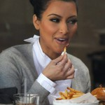 Kim Kardashian great appetite at lunch