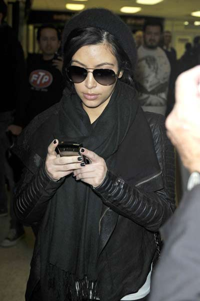Kim in NYC airport