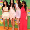 Kim, Kourtney, and Kendall and Kylie Kardashian