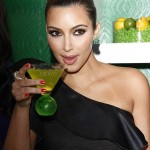 Kim Kardashian on Midori Melon Liqueur Trunk Show