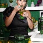 Kim Kardashian in West Hollywood on Midori Melon Liqueur Trunk Show