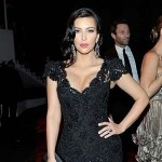 Kim Kardashian at Weinstein Company in 2012 after party