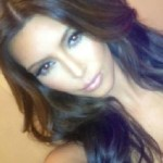 Kim new hair color