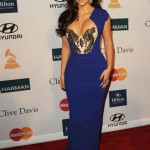 Kim Kardashian in Beverly Hilton on Pre-Grammy 2012