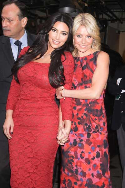 Kim Kardashian and Kelly Ripa