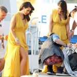 Kim Kardashian in Perfect Yellow Dress