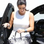 Kim Kardashian Criticized by PETA for Carrying a Crocodile Birkin Bag