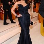 Kim Kardashian in a J. Mendel gown