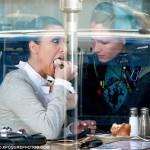 Kim Kardashian in restaurant