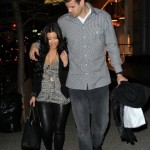 Kim Kardashian and Kris Humphries walk in NYC