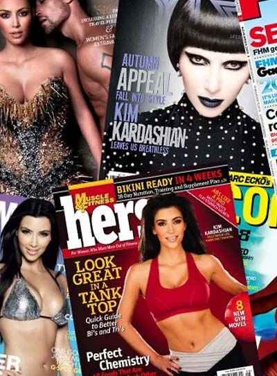 Kim Kardashian magazine covers collection