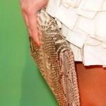 Kim Kardashian bronze handbag