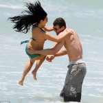 Kim Kardashian and Kris Humphries in Puerto Mita, Mexico