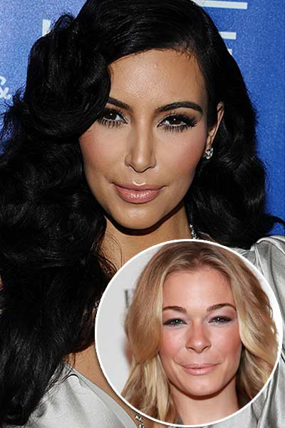 Kim Kardashian and LeAnn Rimes